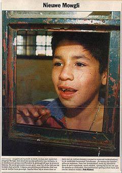 """Фрагмент статьи о чилийском """"Маугли"""". Фото с сайта junglebook-collection.nl"""