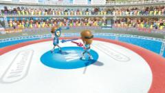Сражение на пластиковых мечах в Wii Sports Resort. Кликните на картинку для увеличения