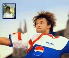 Дмитрий Сычев в рекламе Pepsi. Кадр видеоролика с сайта adme.ru