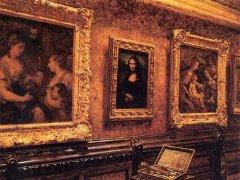 """Картина Луи Беру """"Мона Лиза"""" в Лувре"""". Репродукция с сайта wikipedia.org"""