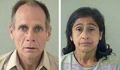 Филлип Крейг Гарридо и Нэнси Гарридо. Фотографии полиции, переданные (c)AFP