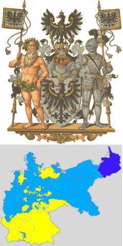 Восточная Пруссия в составе Германской империи и ее герб. С сайта wikipedia.org