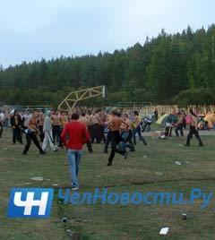 """Напавшие на посетителей фестиваля молодые люди. Фото """"ЧелНовости"""""""