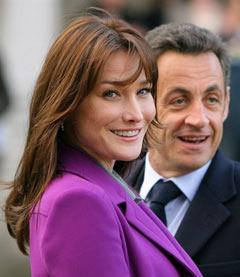 Карла Бруни и Николя Саркози. Фото (c)AFP