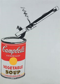 """Большая банка супа Campbell's с консервным ножом"" Энди Уорхола. Фото Christie's Images Ltd 2010"