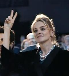 Шэрон Стоун на благотворительном вечере. Кадр, переданный телеканалом Russia Today