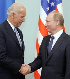 Джо Байден и Владимир Путин. Фото с сайта premier.gov.ru