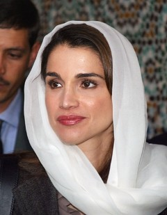 Королева Иордании Рания Аль-Абдулла в хиджабе. Фото AFP