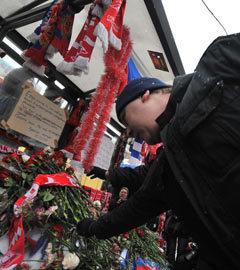 """Акция памяти Егора Свиридова, январь 2011 года. Фото Мити Алешковского для """"Ленты.Ру"""""""