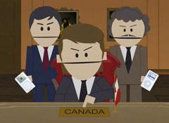 """Карикатура на канадцев в мультсериале """"Южный парк"""""""