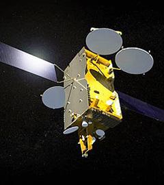 """Модель спутника """"Экспресс АМ-4"""". Фото Astrium"""