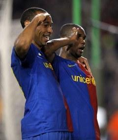 "В ""Барселоне"" с Тьерри Анри. Фото AFP"