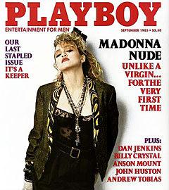 Мадонна на обложке Playboy, сентябрь 1985 года. Открыть фотогалерею обложек Playboy