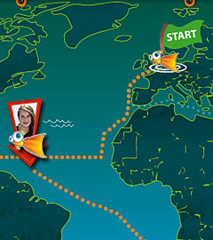 Карта путешествия Лоры Деккер. Изображение с сайта lauradekker.nl. (Нажмите, чтобы увеличить)