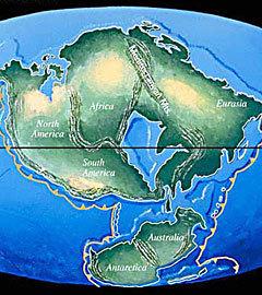 Новопангея. Изображение с сайта NASA