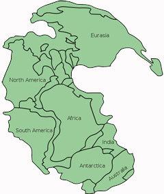 Пангея. Изображение пользователя Kieff с сайта wikipedia.org