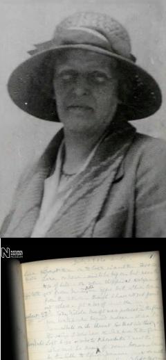 Дороти Бейт и ее дневник. Кадр из видео Британского музея естественной истории
