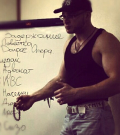 """Тесак во время проведения семинара """"Не верь! Не бойся! Не сдавайся!"""". Фото vk.com"""