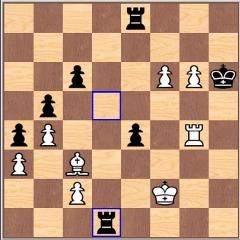 Позиция на доске после 44 хода Deep Blue в первой партии матча с Каспаровым