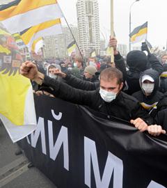 """""""Русский марш"""" в Москве, 2011 год. Фото РИА Новости, Илья Питалев"""