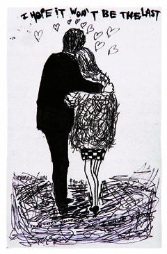 """Джон и Синтия. Рисунок Джона Леннона. Предоставлено издательством """"Слово"""""""