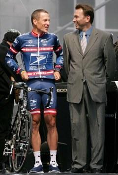 Армстронг с Йоханом Брюнелем. Фото (c)AFP