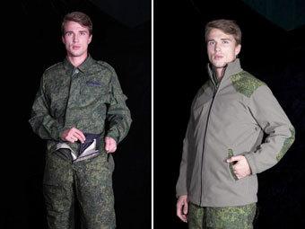Образцы военной формы. Фото из твиттера Валентина Юдашкина