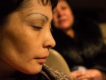Одна из освобожденных женщин. Фото Тимофея Васильева