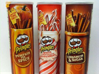 Новые вкусы Pringles. Фото с сайта laughingsquid.com