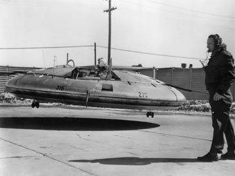 Испытания Avrocar. Фото из архива музея ВВС США