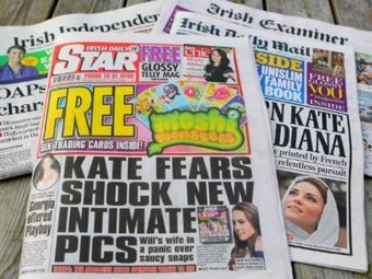 Номер Irish Daily Star от 15 сентября 2012 года. Фото (c)AFP