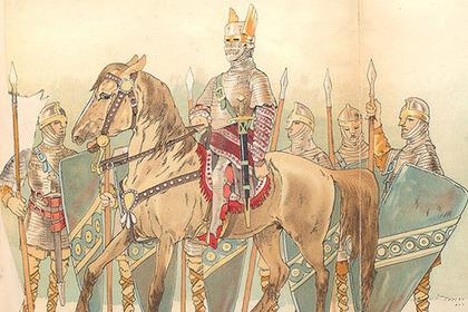Отряд варягов. Рисунок XIX века