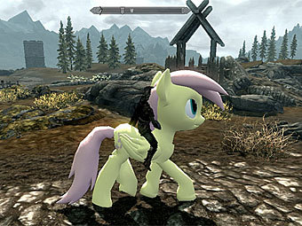 Модификация Skyrim My Little Pony Dragon Mod