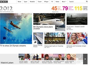 Скриншот с сайта bbc.co.uk/2012