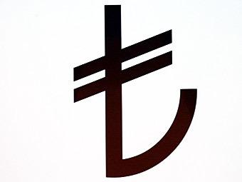 Графический символ турецкой лиры. Источник: (c)AFP