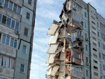 Обрушившийся в Астрахани дом. Фото пресс-службы МЧС России