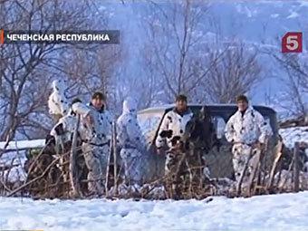 "Спецоперация на границе Чечни и Дагестана. Кадр ""Пятого канала"""