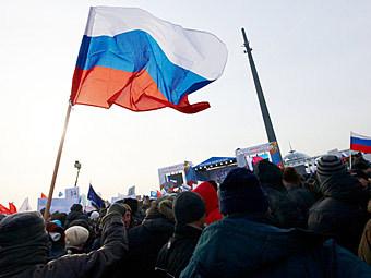 """Митинг на Поклонной горе, 4 февраля 2012 года. Фото Сергея Петрова для """"Ленты.ру"""""""