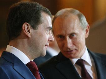 Дмитрий Медведев и Владимир Путин. Фото Михаила Климентьева, РИА Новости