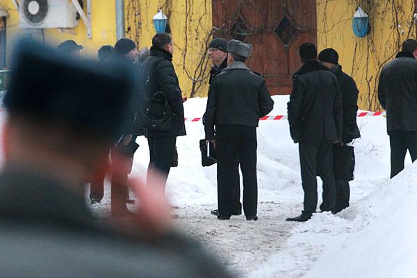 Полиция на месте убийства Аслана Усояна