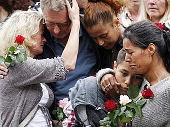 Акция памяти в Осло, 25 июля 2011 года. Фото (c)AFP