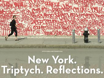 "Фрагмент афиши выставки ""New York. Triptych. Reflections"""