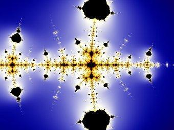 Фрактал Коллатца на комплексной плоскости получается при помощи модификации исходного алгоритма для целых чисел. Иллюстрация пользователя Pokipsy76 с сайта wikipedia.org