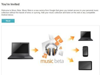 Скриншот Google Music Beta с сайта engadget.com