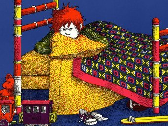 "Фрагмент обложки книги ""Alexander and the Terrible, Horrible, No Good, Very Bad Day"""