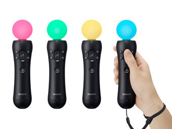 Контроллеры PlayStation Move. Фото пресс-службы Sony Computer Entertainment