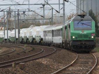 Поезд с ядерными отходами. Фото с сайта greenpeace.org