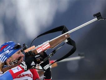 Биатлонистка сборной России Яна Романова. Фото с официального сайта СБР