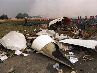 "Обломки ""Конкорда"" на месте катастрофы 2000 года. Фото (c)AFP"