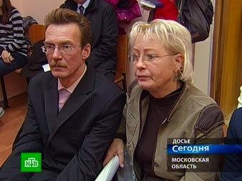 Приемные  родители Глеба Агеева. Кадр телеканала НТВ